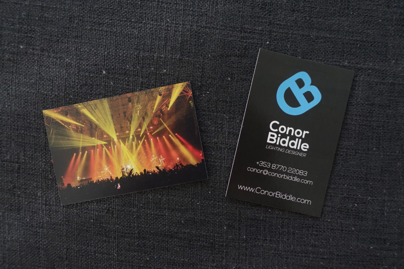 Conor Biddle Business Card by Sean Smyth - 2