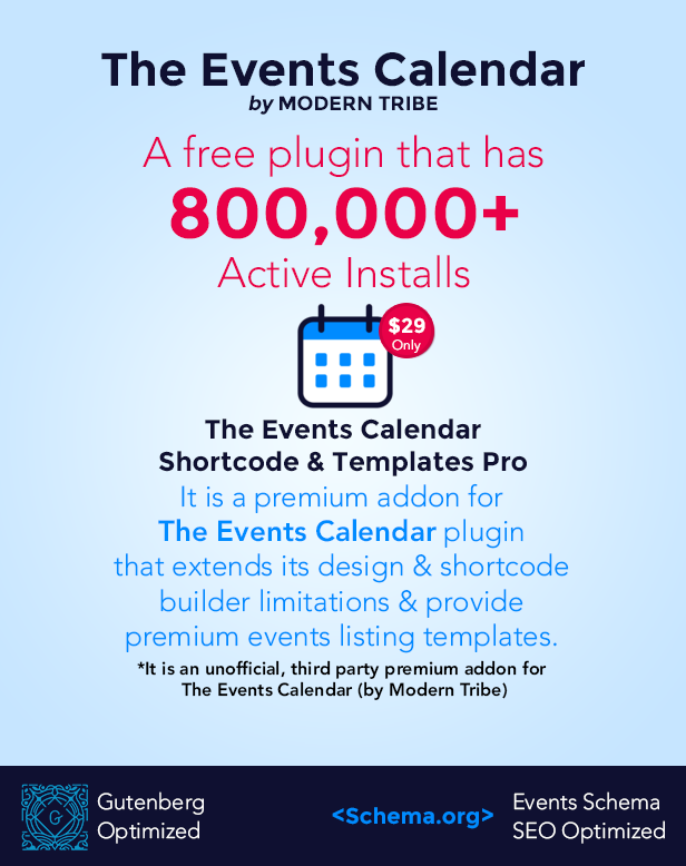 Events Shortcodes & Templates Pro Addon For The Events Calendar - 2
