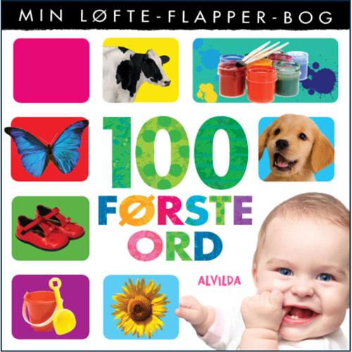 Image of 100 første ord - Min løfte-flapper-bog - Papbog