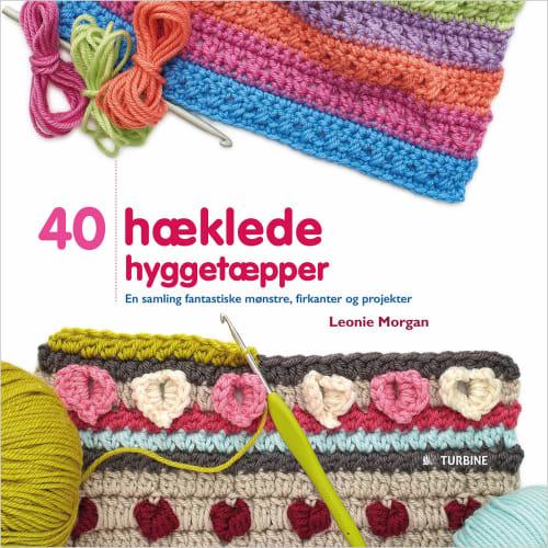 Image of   40 hæklede hyggetæpper - Hæftet
