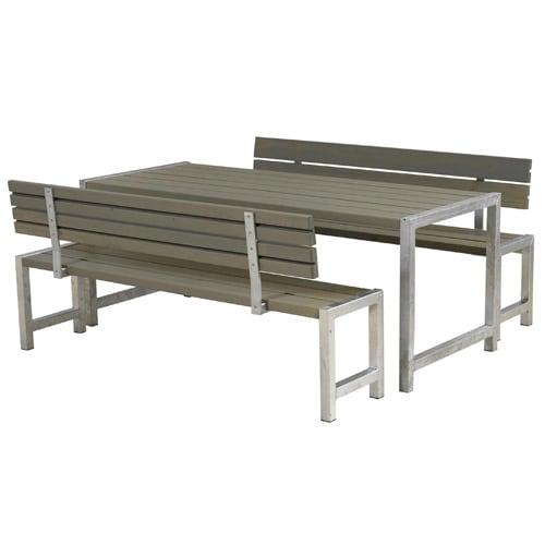 Bord- og bænkesæt med ryglæn - Alma
