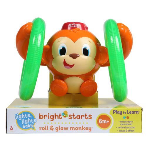 Image of   Bright Starts rullende og lysende abe - Roll & Glow Monkey