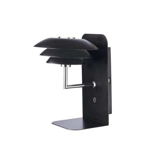 Image of   DybergLarsen natlampe med hylde - DL20 USB - Matsort