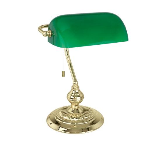 Image of   Eglo bordlampe - Banker - Grøn/messing