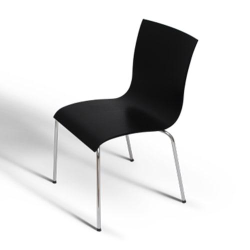 Image of   Erik Bagger stol - Copenhagen Chair Four - Stål/sort