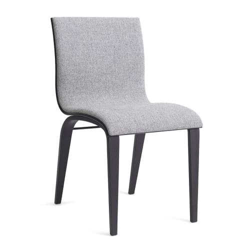 Image of   Erik Bagger stol - Copenhagen Chair Two - Sort/lysegrå