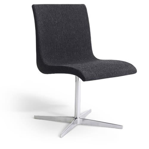 Image of   Erik Bagger stol - Curves Chair Two - Krom/mørkegrå