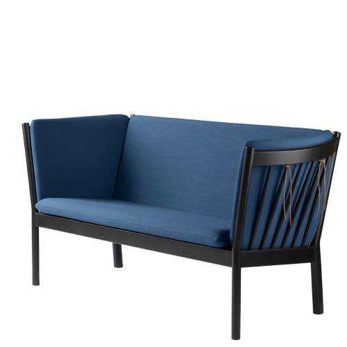 Erik Ole Jørgensen 2 pers. sofa - J148 - Sort eg/blå