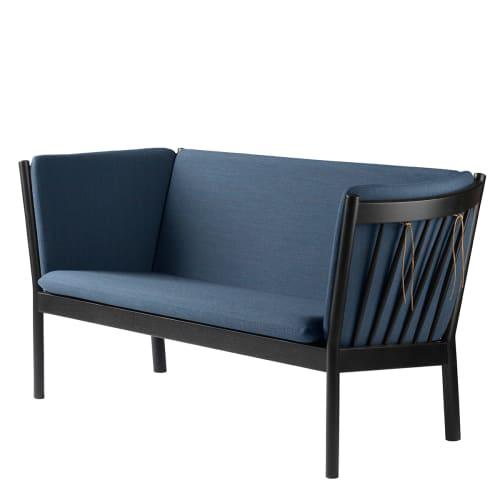 Erik Ole Jørgensen 2 pers. sofa - J148 - Sort eg/støvet blå