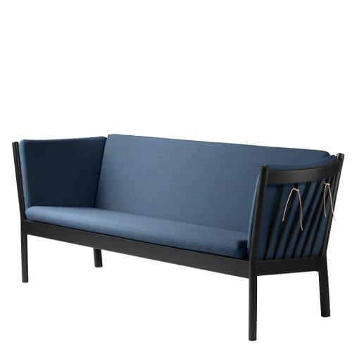 Erik Ole Jørgensen 3 pers. sofa - J149 - Sort eg/blå