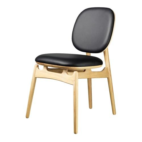 Image of   Hans-Christian Bauer stol - J161 PoSpiSto - Eg/sort læder