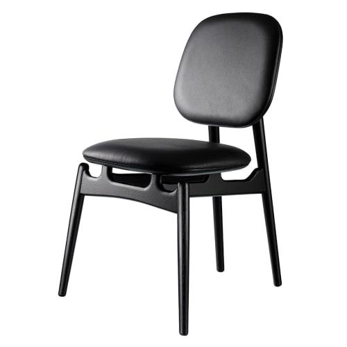 Image of   Hans-Christian Bauer stol - J161 PoSpiSto - Sort eg/sort læder