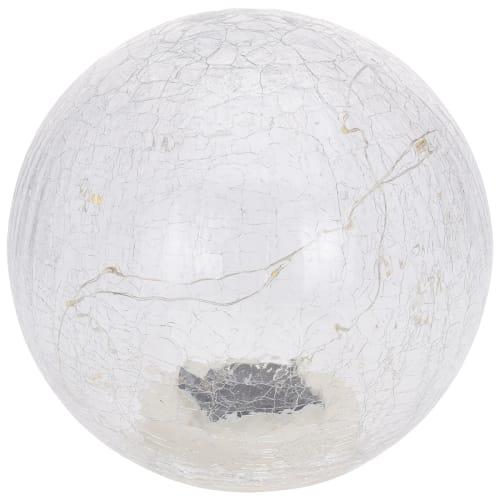 Havelampe krakeleret glaskugle - Ø 15 cm