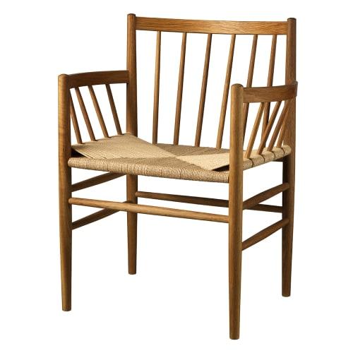 Image of   Jørgen Bækmark stol - J81 - Røget eg med indgravering