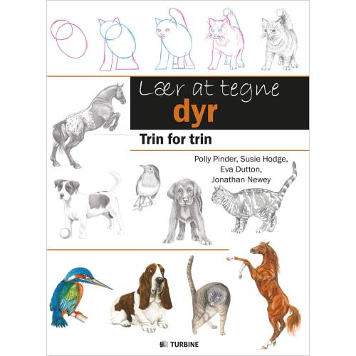 Image of   Lær at tegne dyr - Trin for trin - Hæftet