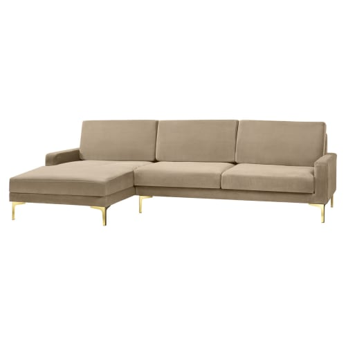 Living&more 3 pers. sofa med chaiselong - Viktoria - Sand