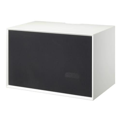 Living&more Skab Med Stoflåge - The Box - 37 X 58 X 34 Cm - Hvid/sort