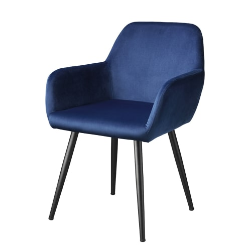 Living&more Spisebordsstol - Emma - Mørkeblå