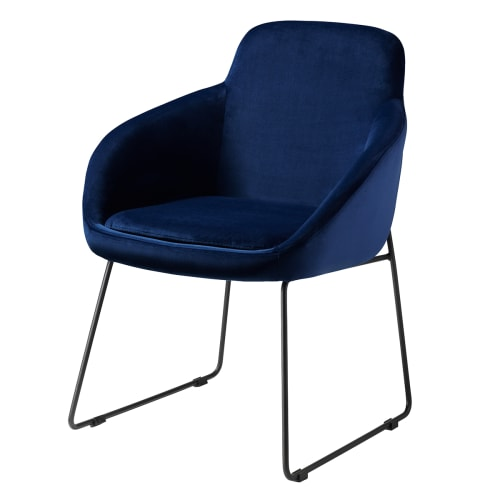 Living&more Spisebordsstol - Vilma - Mørkeblå