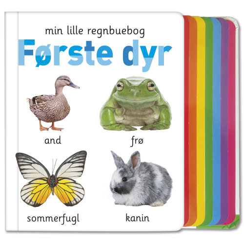 Image of   Min lille regnbuebog - Første dyr - Papbog