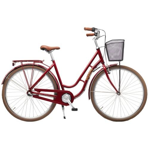 "Mustang Dagmar 28"" damecykel med 3 gear - Rød"