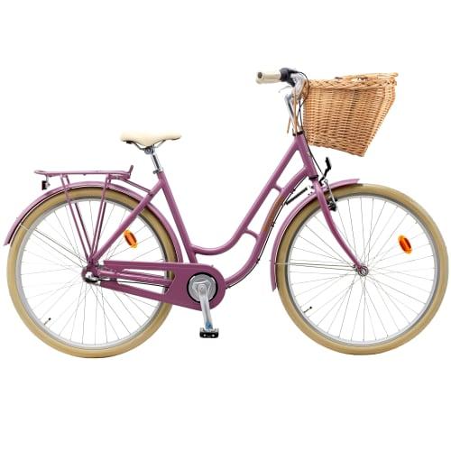 """Mustang Dagmar 28"""" damecykel med 3 gear - Soft purple"""