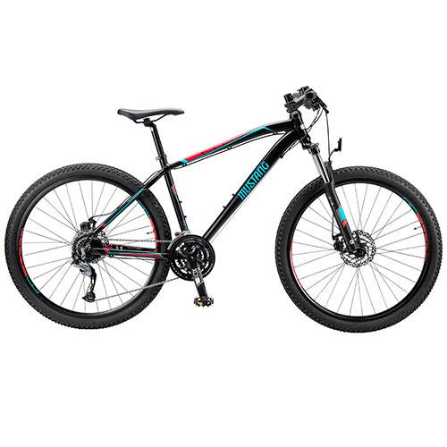 "Mustang Makalu 29"" mountainbike 27 gear - Sort/rød/blå"