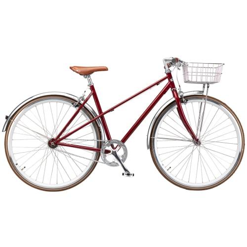 """Mustang Vintage Street 28"""" damecykel med kickback-skifter - Rød"""