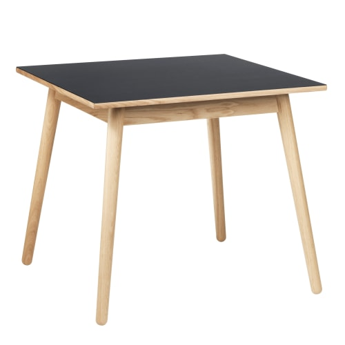 Image of   Poul M. Volther 4 pers. spisebord - C35A - Eg/mørkegrå linoleum