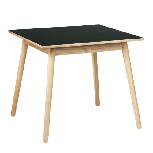 Billede af Poul M. Volther 4 pers. spisebord - C35A - Eg/mørkegrøn linoleum