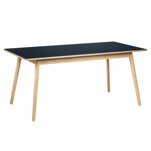 Image of   Poul M. Volther 6 pers. spisebord - C35B - Eg/blå linoleum