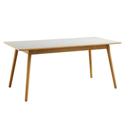 Image of   Poul M. Volther 6 pers. spisebord - C35B - Eg/grå linoleum
