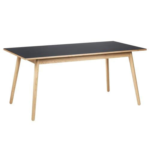 Poul M. Volther 6 pers. spisebord - C35B - Eg/mørkegrå linoleum