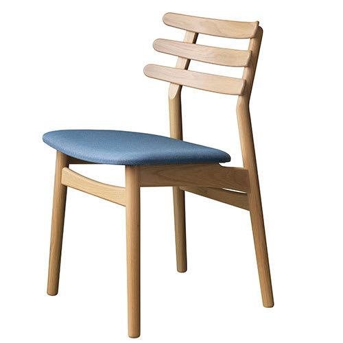 Image of   Poul M. Volther stol - J48 - Gråblå/eg