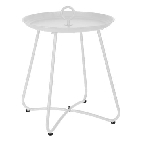 Sidebord med hank - Hvid (mat)