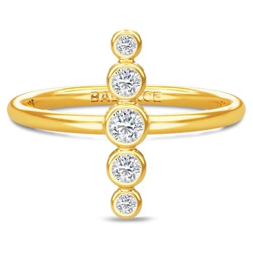 Image of   Spinning Jewelry ring - Aura Balance - Forgyldt sterlingsølv