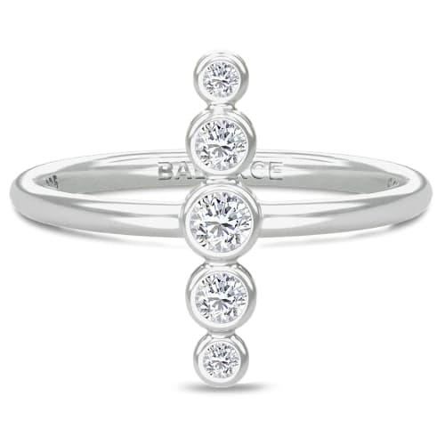Image of   Spinning Jewelry ring - Aura Balance - Rhodineret sterlingsølv