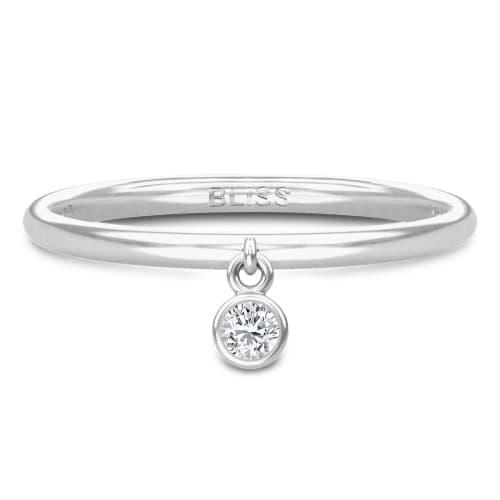 Image of   Spinning Jewelry ring - Aura Bliss - Rhodineret sterlingsølv