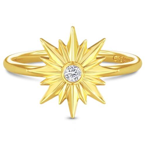 Image of   Spinning Jewelry ring - Aura Energy - Forgyldt sterlingsølv