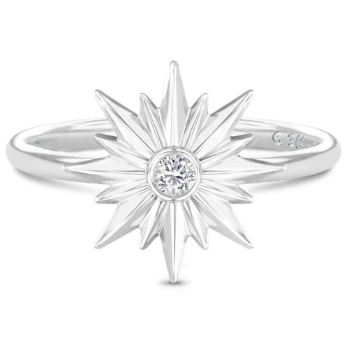 Image of   Spinning Jewelry ring - Aura Energy - Rhodineret sterlingsølv
