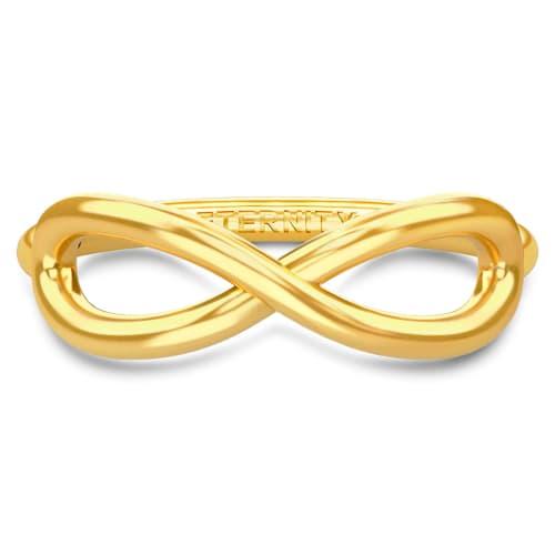 Image of   Spinning Jewelry ring - Aura Eternity - Forgyldt sterlingsølv