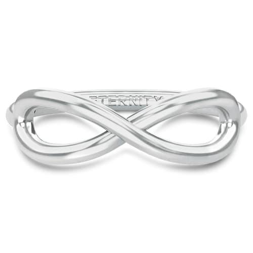 Image of   Spinning Jewelry ring - Aura Eternity - Rhodineret sterlingsølv