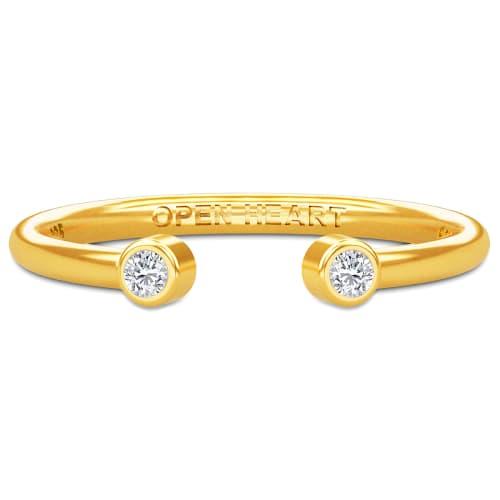 Image of   Spinning Jewelry ring - Aura Open heart - Forgyldt sterlingsølv