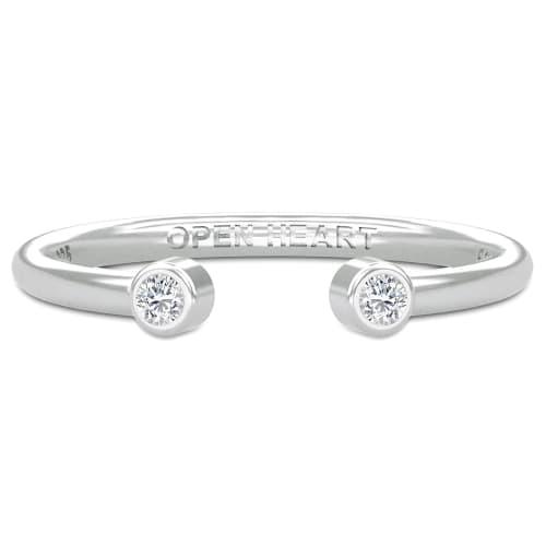 Image of   Spinning Jewelry ring - Aura Open heart - Rhodineret sterlingsølv