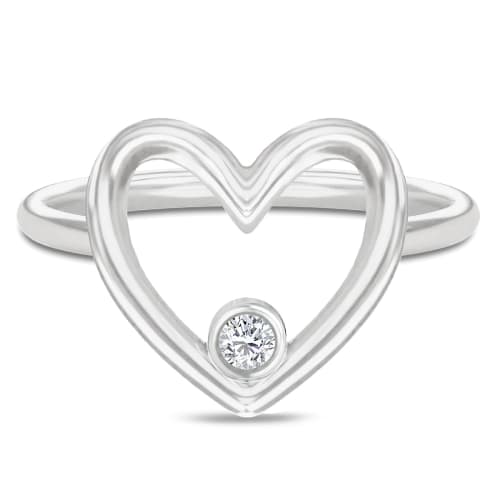Image of   Spinning Jewelry ring - Aura Purity - Rhodineret sterlingsølv