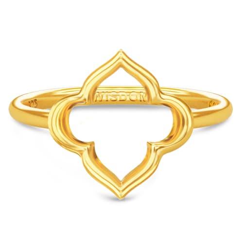 Image of   Spinning Jewelry ring - Aura Wisdom - Forgyldt sterlingsølv