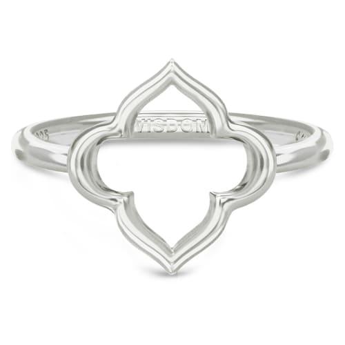 Image of   Spinning Jewelry ring - Aura Wisdom - Rhodineret sterlingsølv