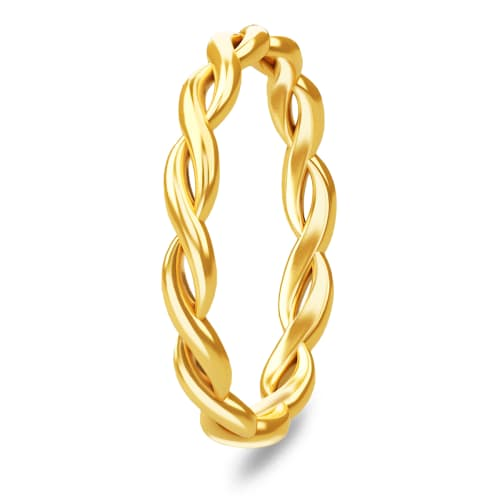 Image of   Spinning Jewelry ring - Braided - Forgyldt sterlingsølv