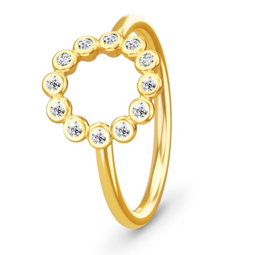 Image of   Spinning Jewelry ring - Circle - Forgyldt sterlingsølv
