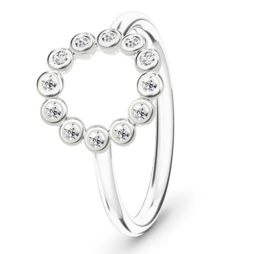 Image of   Spinning Jewelry ring - Circle - Rhodineret sterlingsølv
